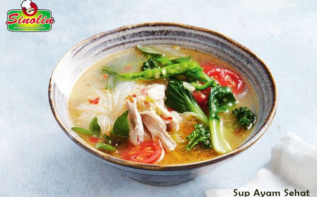 Healthy chicken noodle soup By Dapur Sinolin