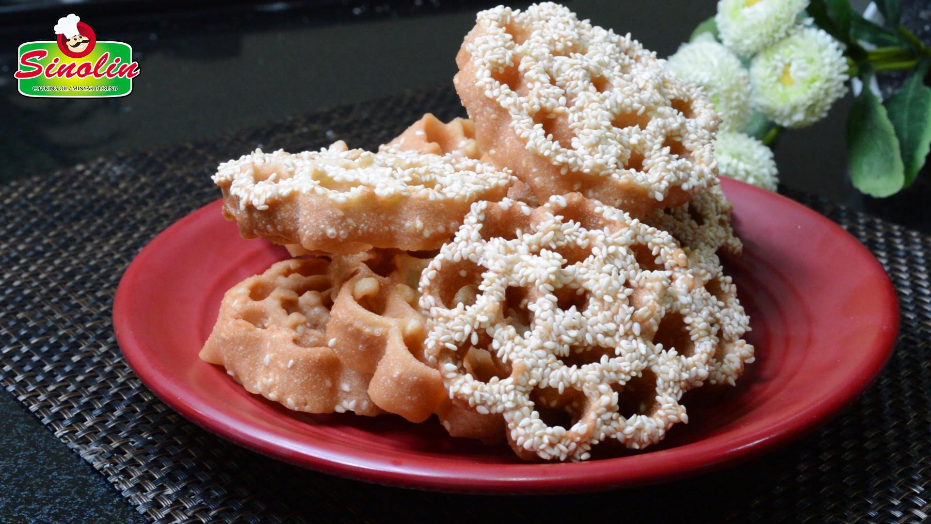 Kue Kembang Goyang Wijen Renyah Oleh Dapur Sinolin