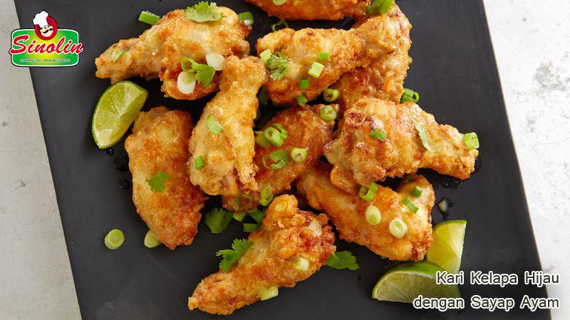 Kari Kelapa Hijau dengan Sayap Ayam oleh Dapur Sinolin