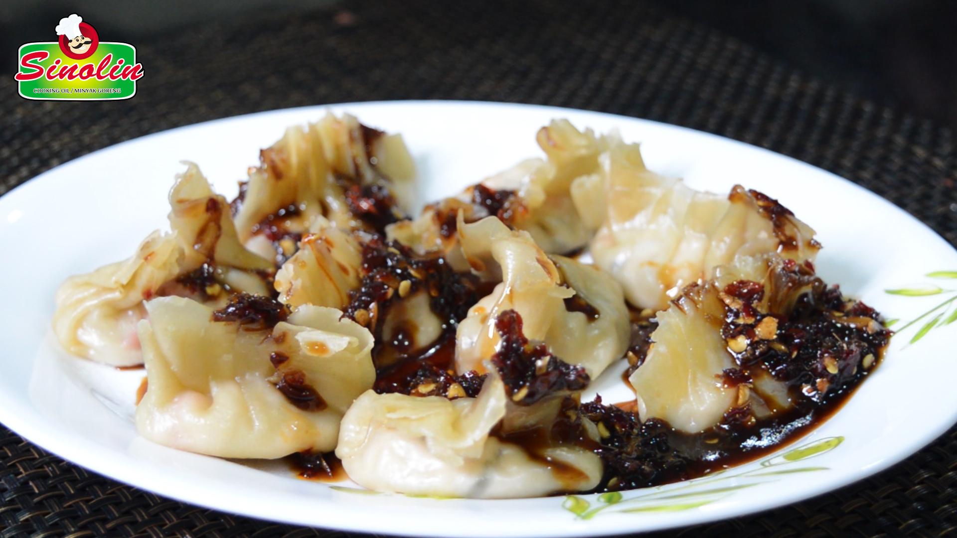 Pangsit Pedas Dalam Minyak Cabai oleh Dapur Sinolin