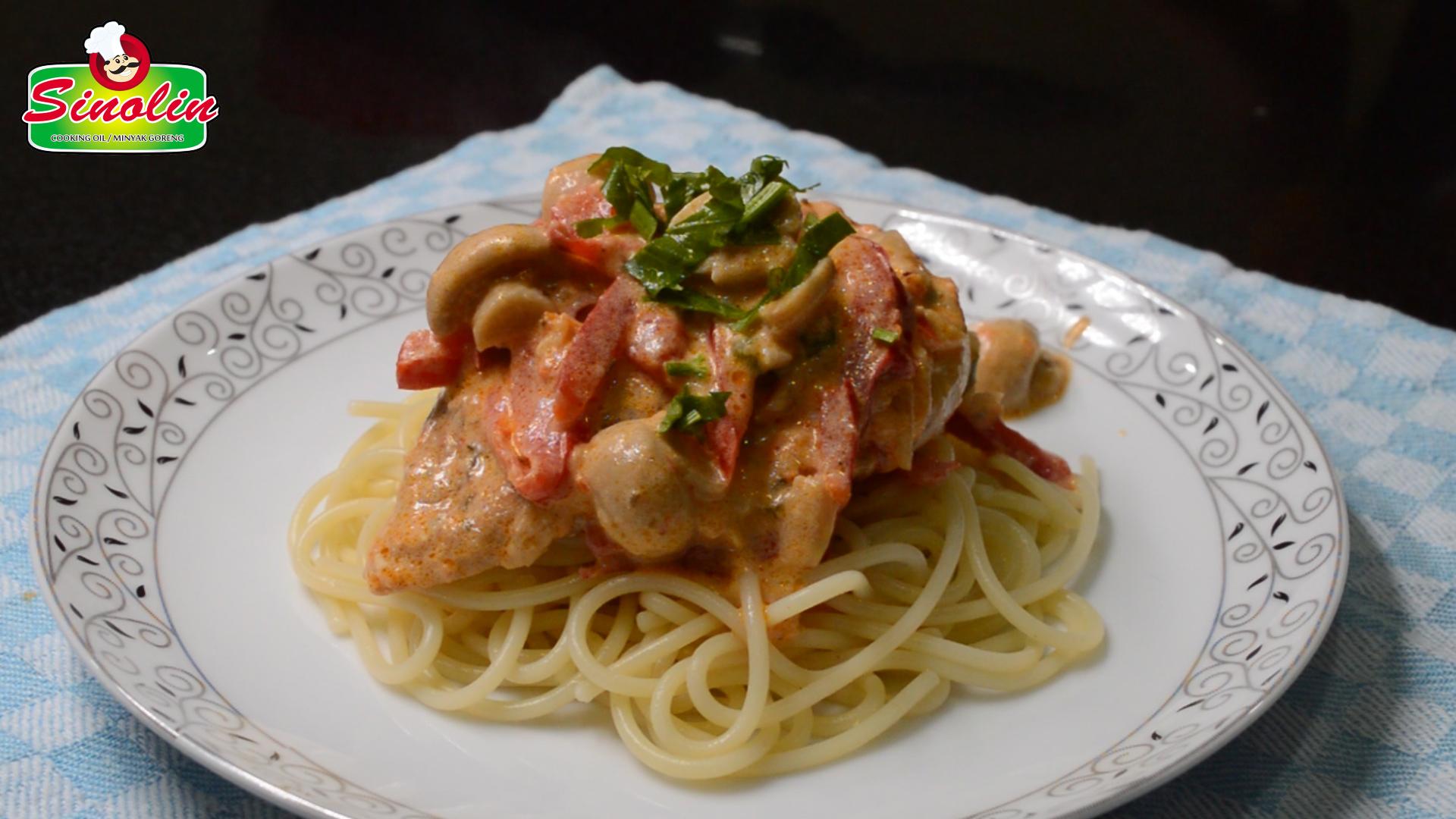 Creamy Skillet Chicken Cacciatore by Dapur Sinolin