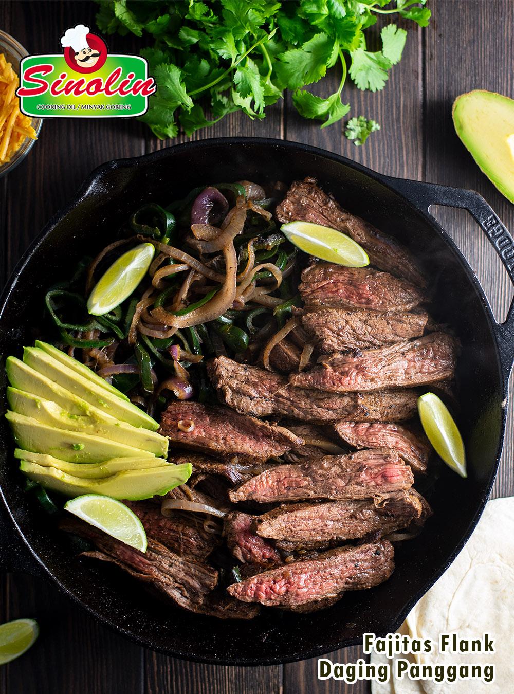 Resep Fajitas Flank Steak Wajan oleh Dapur Sinolin