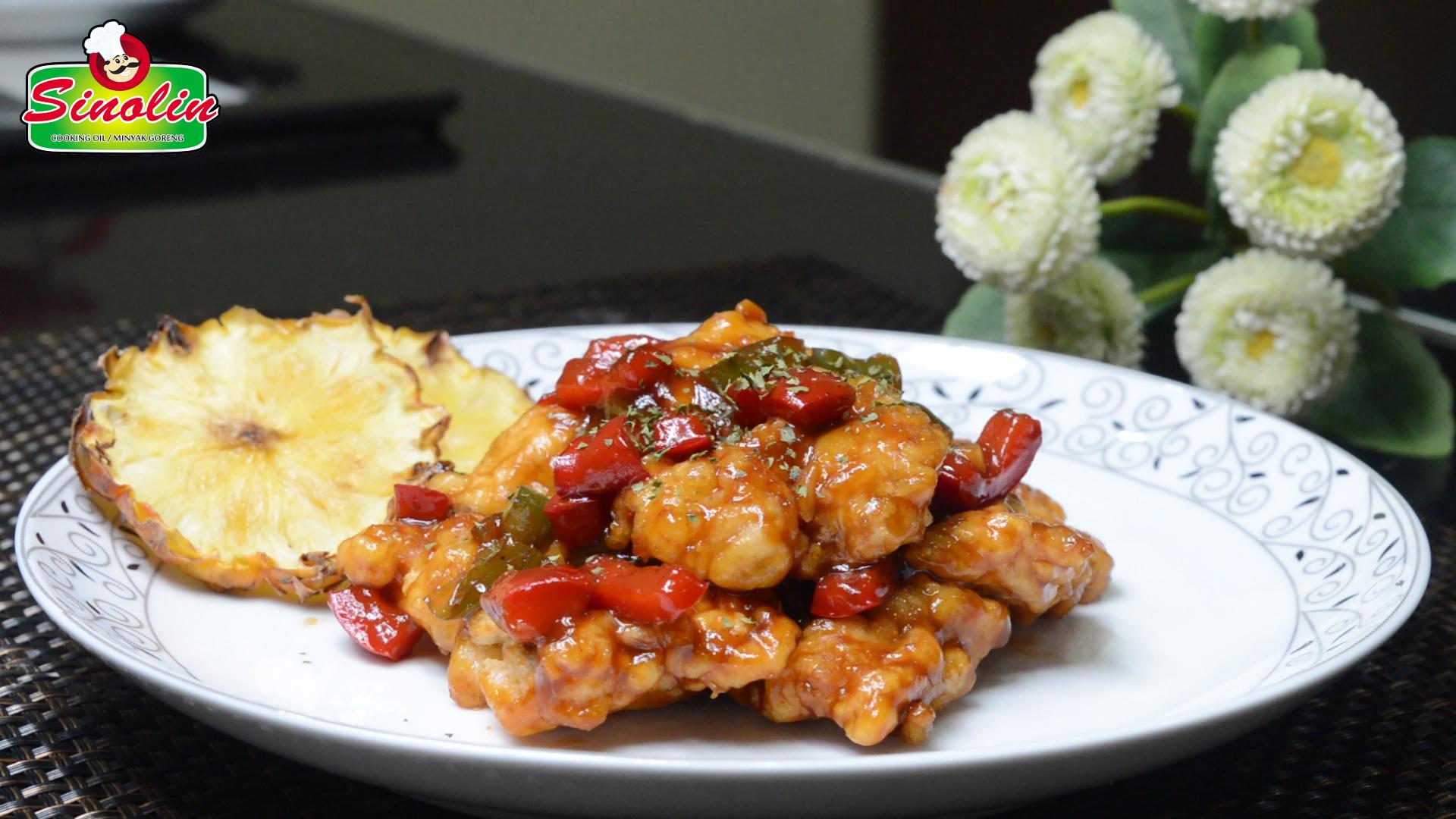 Ayam Hawaii Manis Panggang Oleh Dapur Sinolin