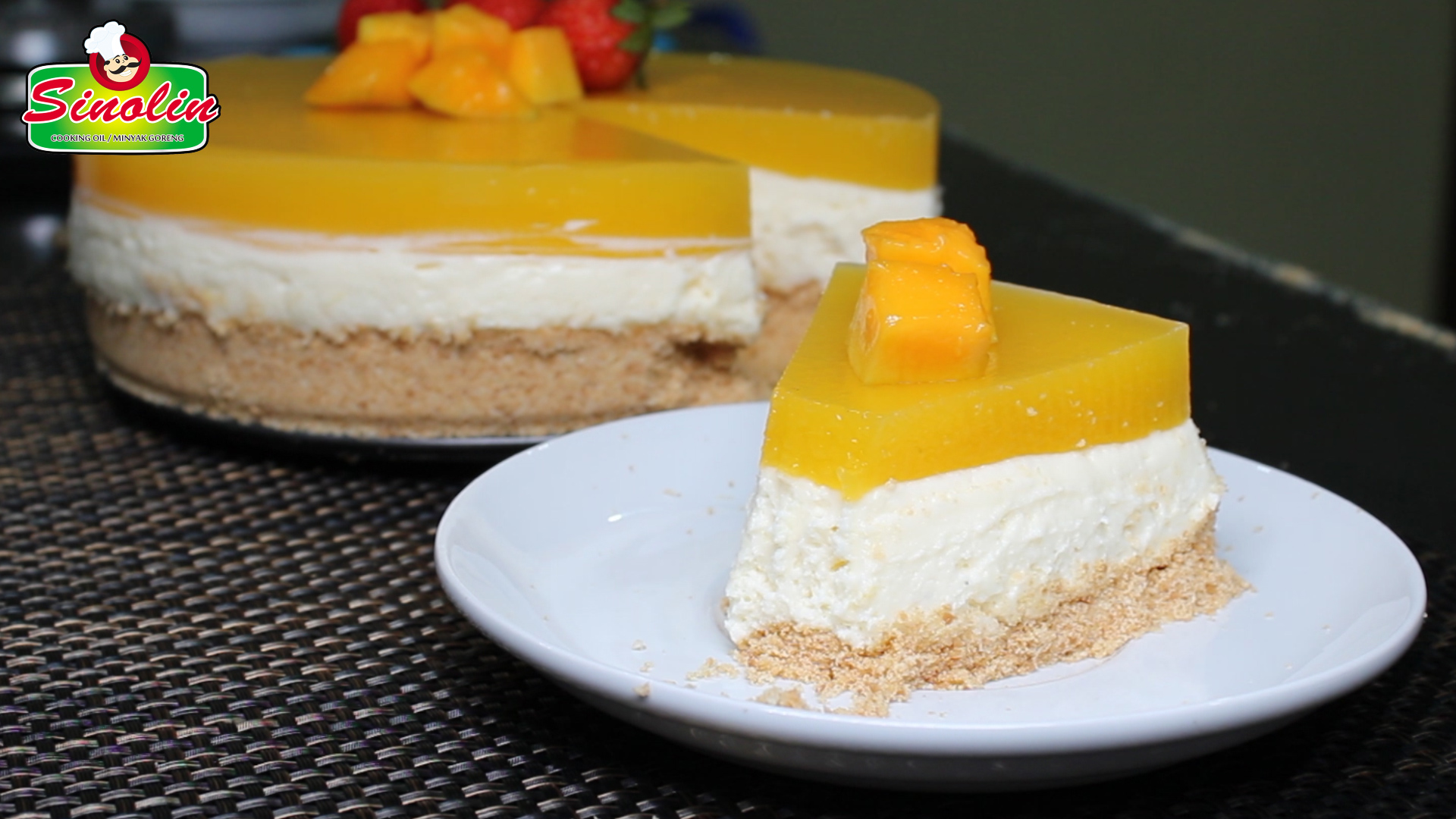 Unbaked Mango Cheesecake oleh Dapur Sinolin