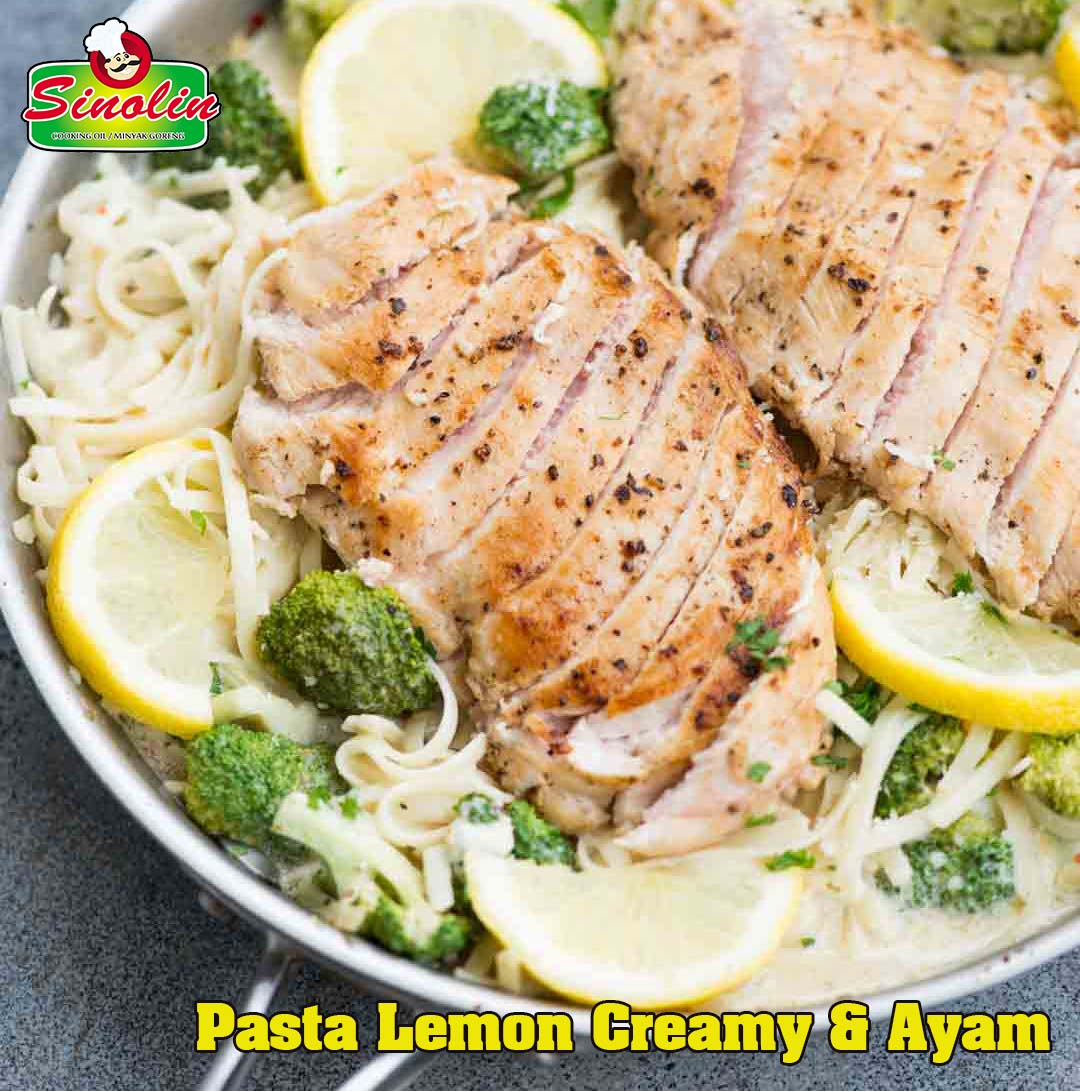Creamy Lemon Chicken Pasta by Dapur Sinolin