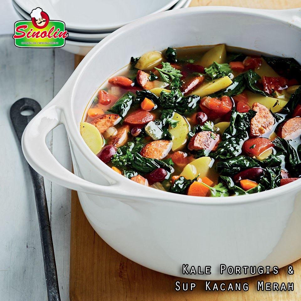 Kale Portugis & Sup Kacang Merah oleh Dapur Sinolin