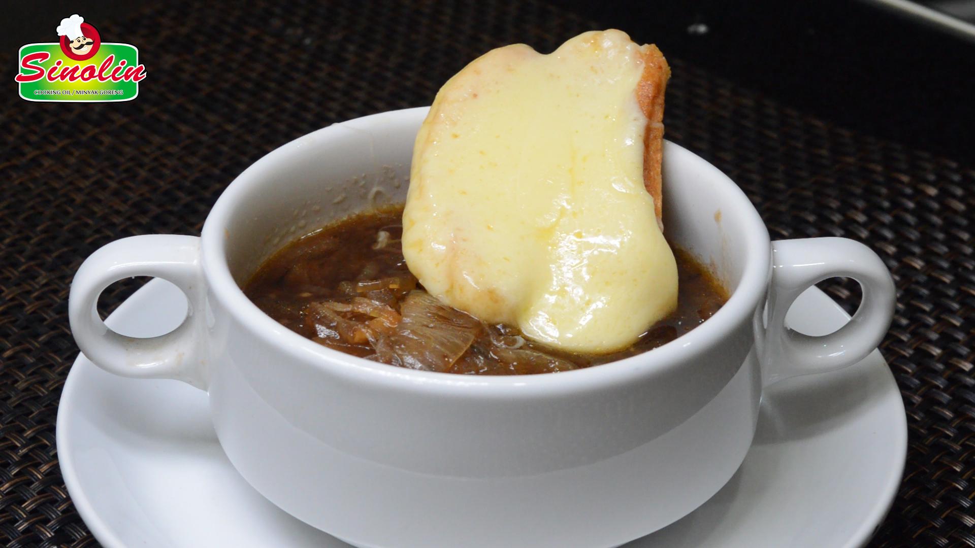 Sup Bawang Perancis Oleh Dapur Sinolin