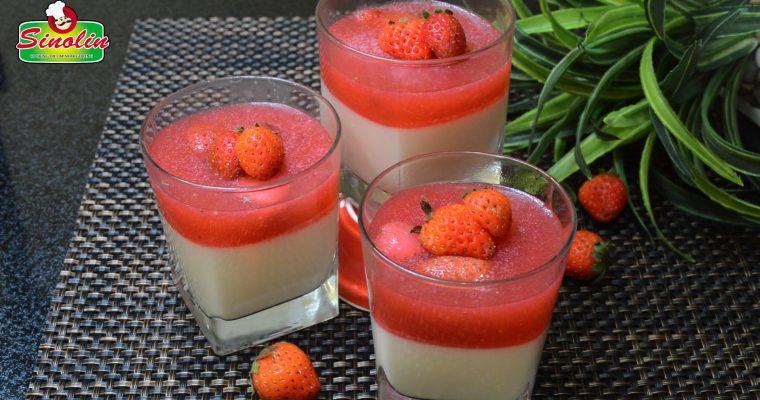 Panna Cotta with strawberry by Dapur Sinolin