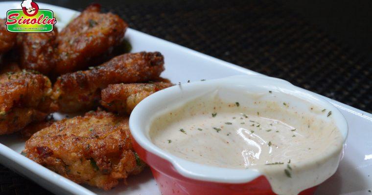 Shrimp Cakes with Spicy Aioli Sauce by Dapur Sinolin