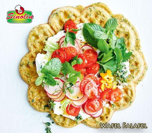 Wafel Falafel Oleh Dapur Sinolin