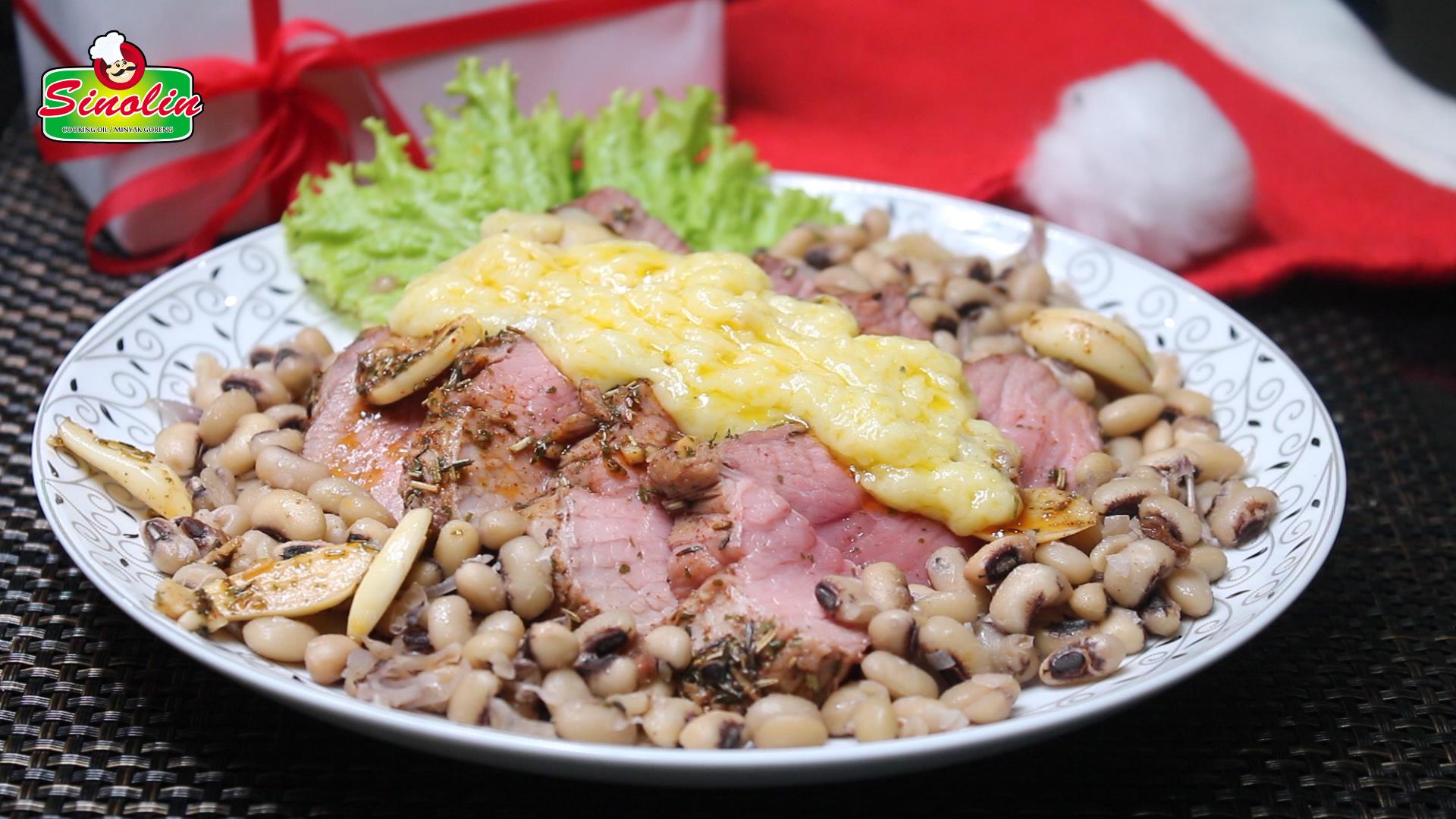 Rosemary Bawang Putih Daging Sapi Panggang Oleh Dapur Sinolin