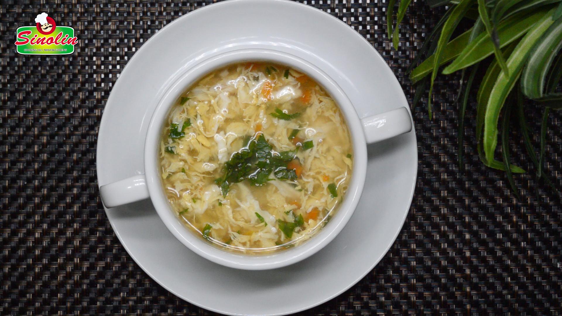 Sup Tetesan Telur Oleh Dapur Sinolin
