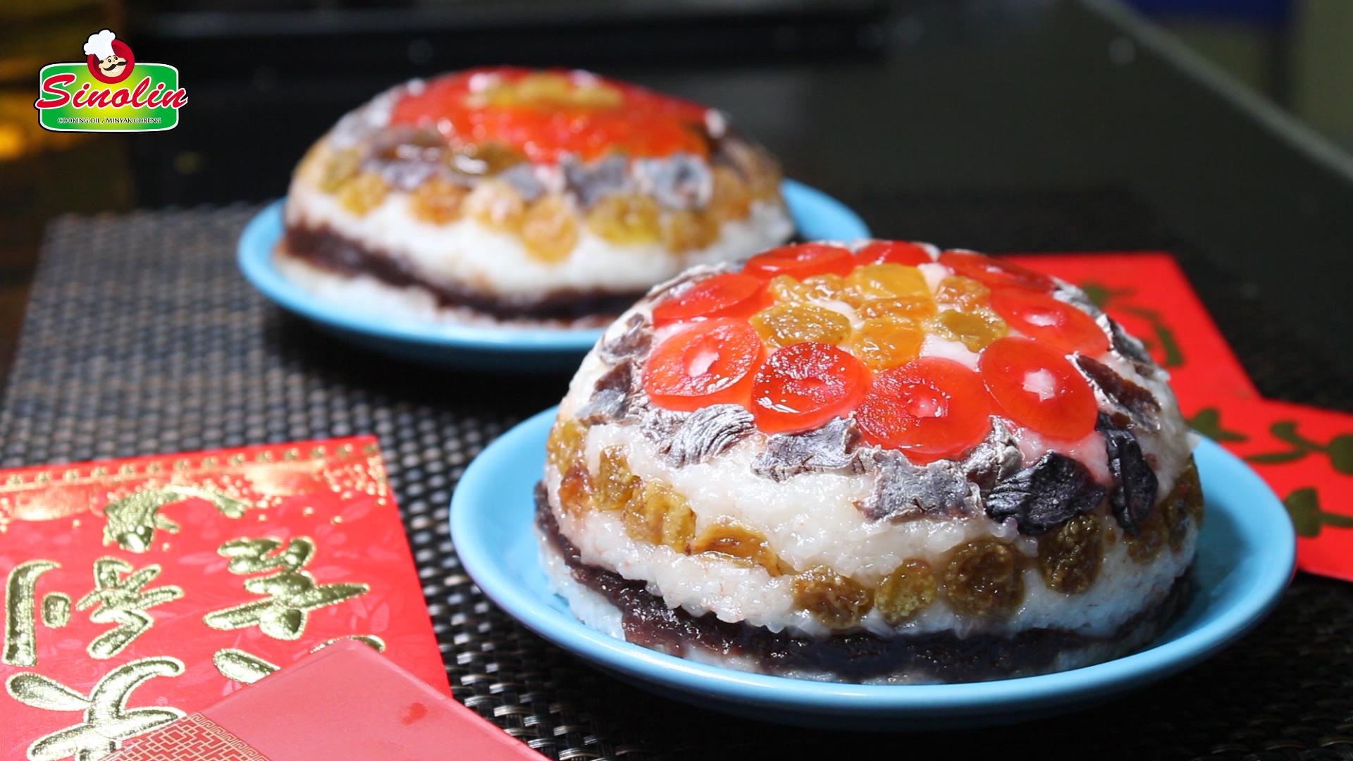 Delapan Puding Nasi Harta Hidangan tahun baru Cina oleh Dapur Sinolin
