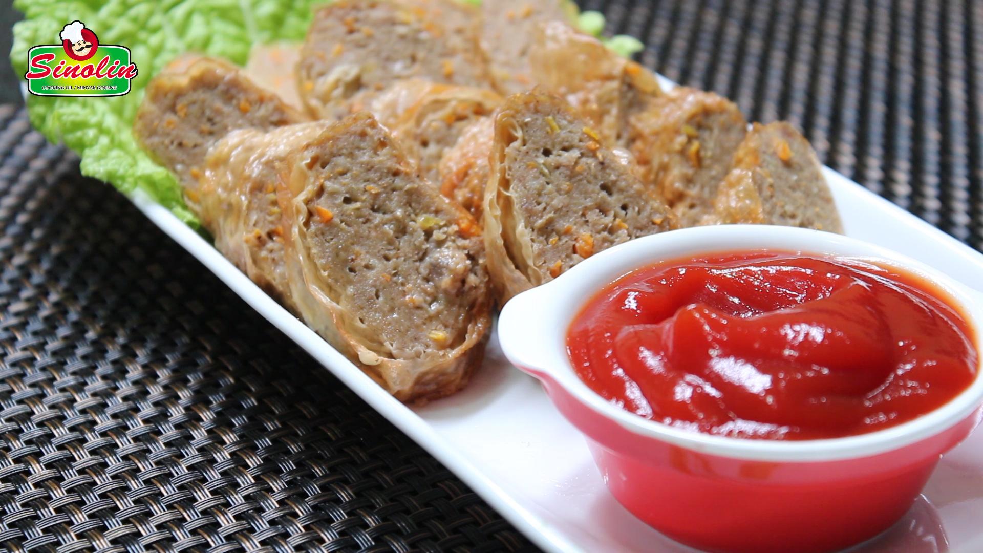 CHINESE MEAT ROLLS 五香肉卷 by Dapur Sinolin