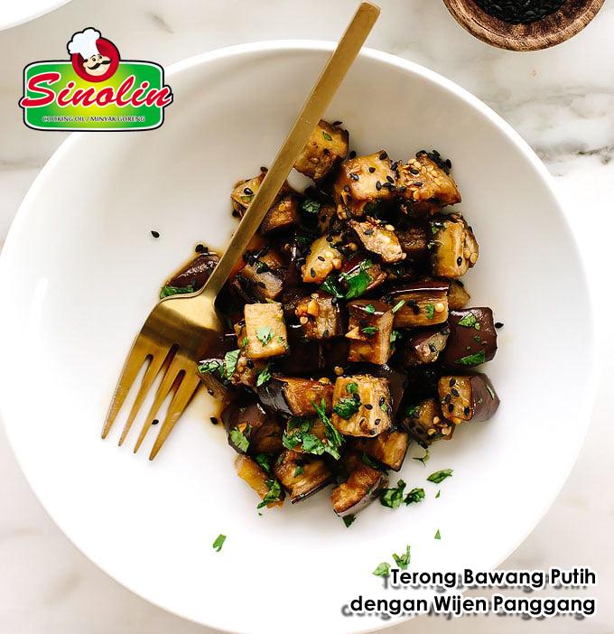 Roasted Sesame-Garlic Eggplant by Dapur Sinolin