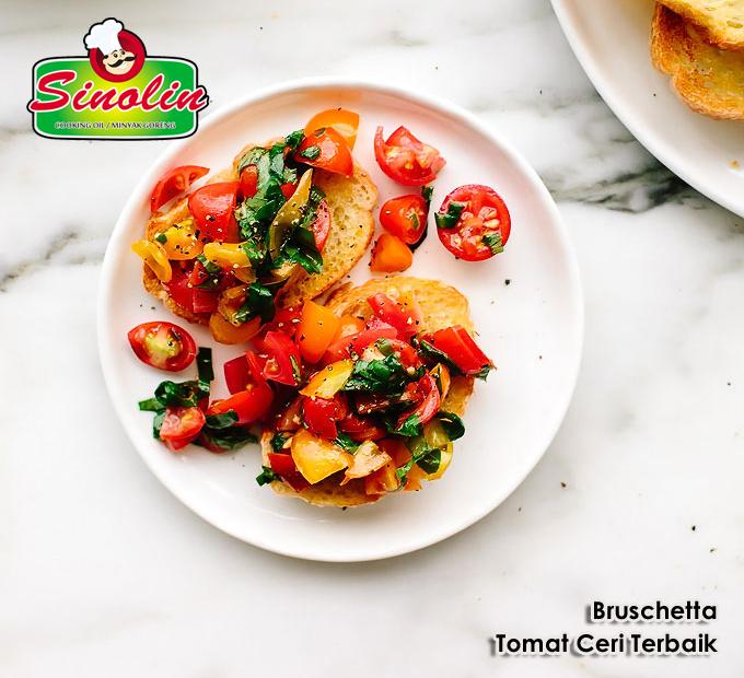 Bruschetta Tomat Ceri Terbaik oleh Dapur Sinolin