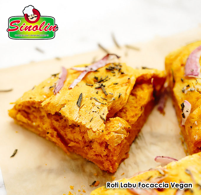 Roti Labu Focaccia Vegan Oleh Dapur Sinolin