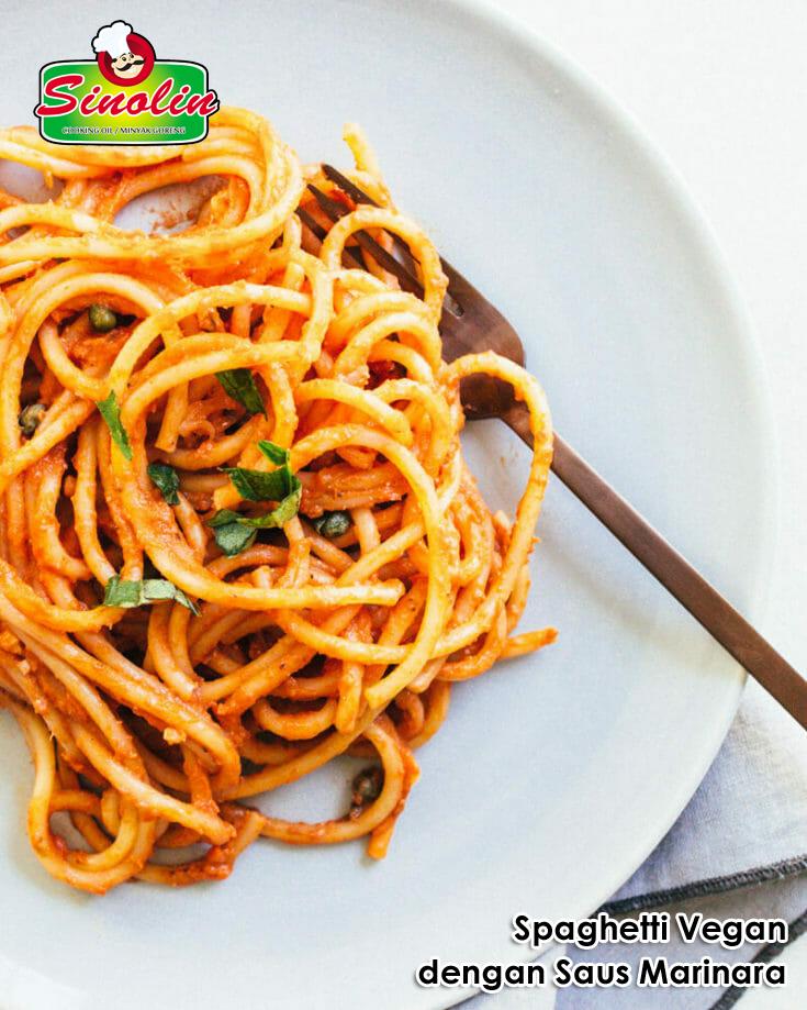 Spaghetti Vegan dengan Saus Marinara Oleh Dapur Sinolin