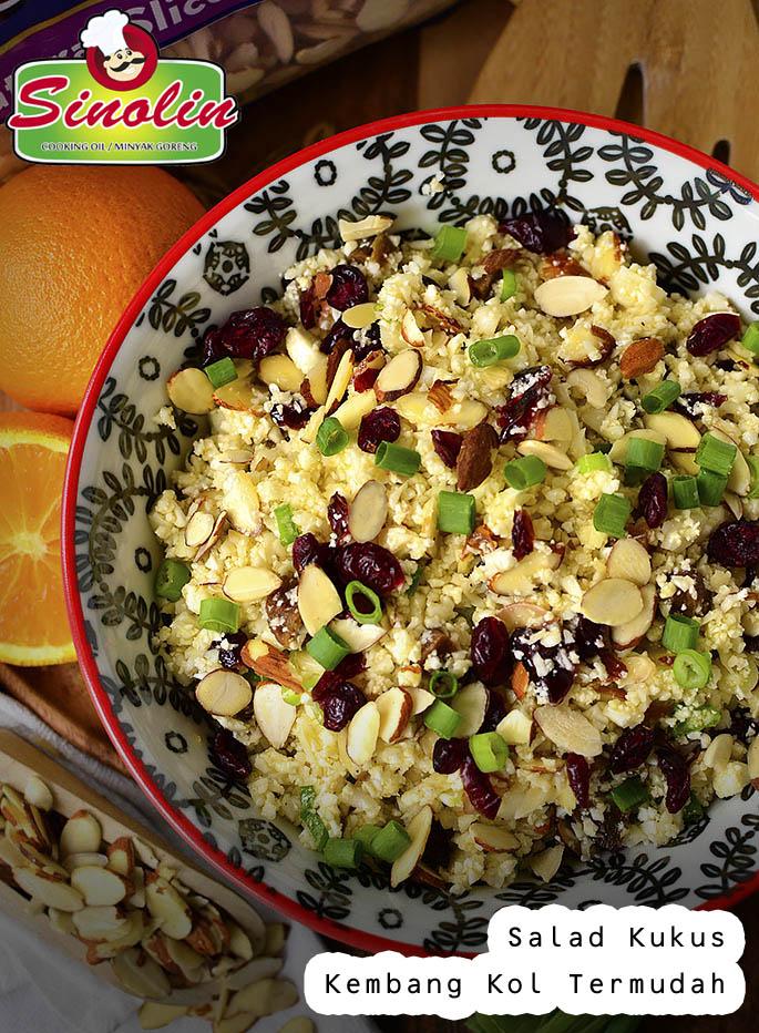 Salad Kukus Kembang Kol Termudah oleh Dapur Sinolin