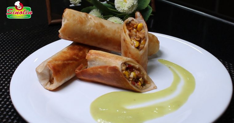 Southwest Egg Rolls with Avocado Sauce By Dapur Sinolin