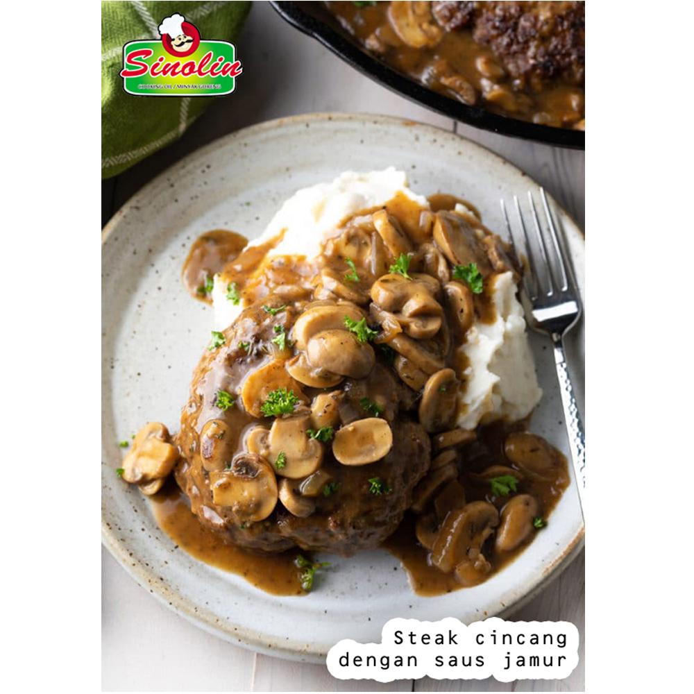 Cincang Steak dengan Resep Kuah Jamur oleh Dapur Sinolin