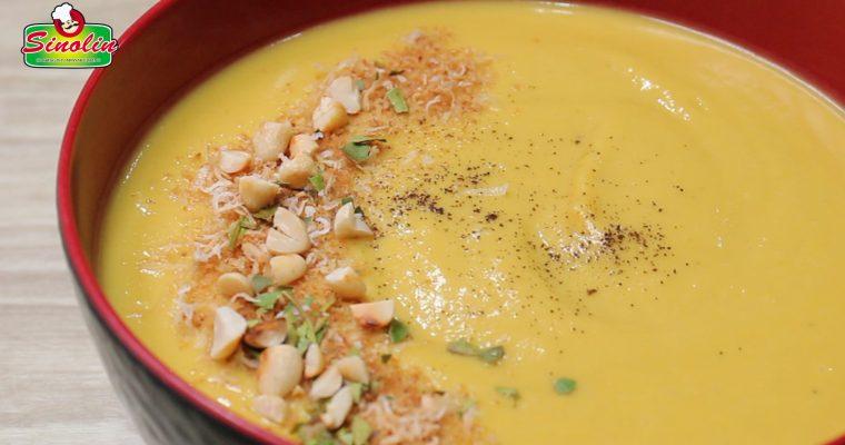 Sup Kelapa Thailand dengan Ubi Jalar Oleh Dapur Sinolin