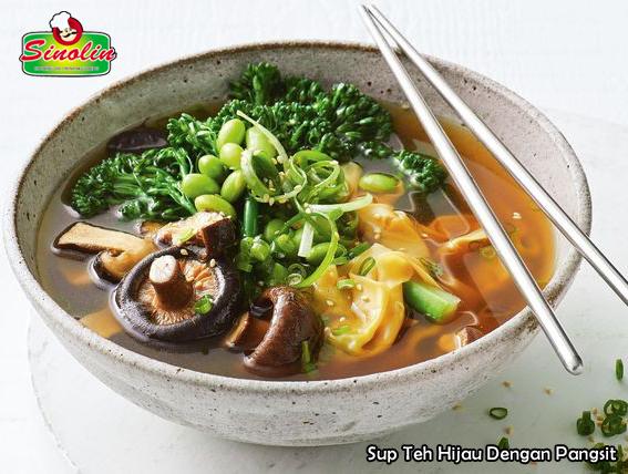 Sup Teh Hijau Dengan Pangsit Oleh Dapur Sinolin