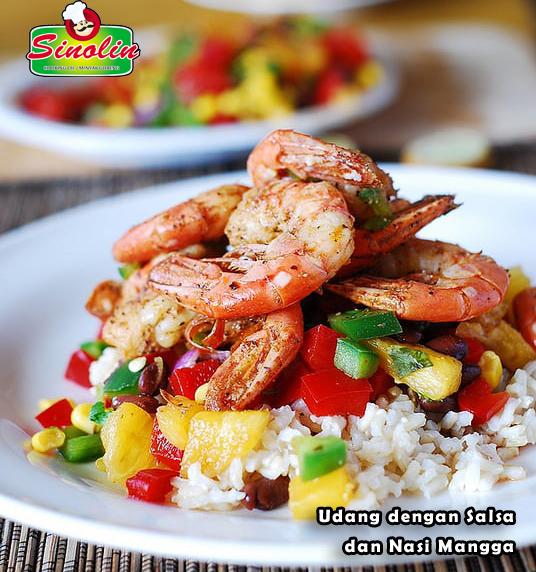 Resep Udang dengan Salsa dan Nasi Mangga Oleh Dapur Sinolin