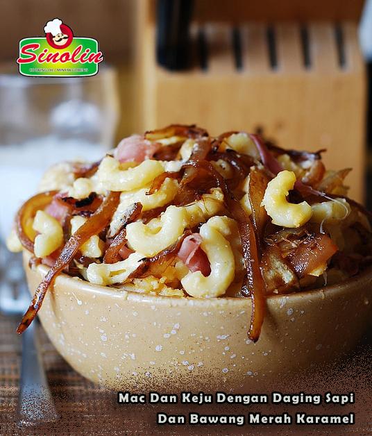 Resep Mac Dan Keju Dengan Daging Sapi Dan Bawang Merah Karamel Oleh Dapur Sinolin