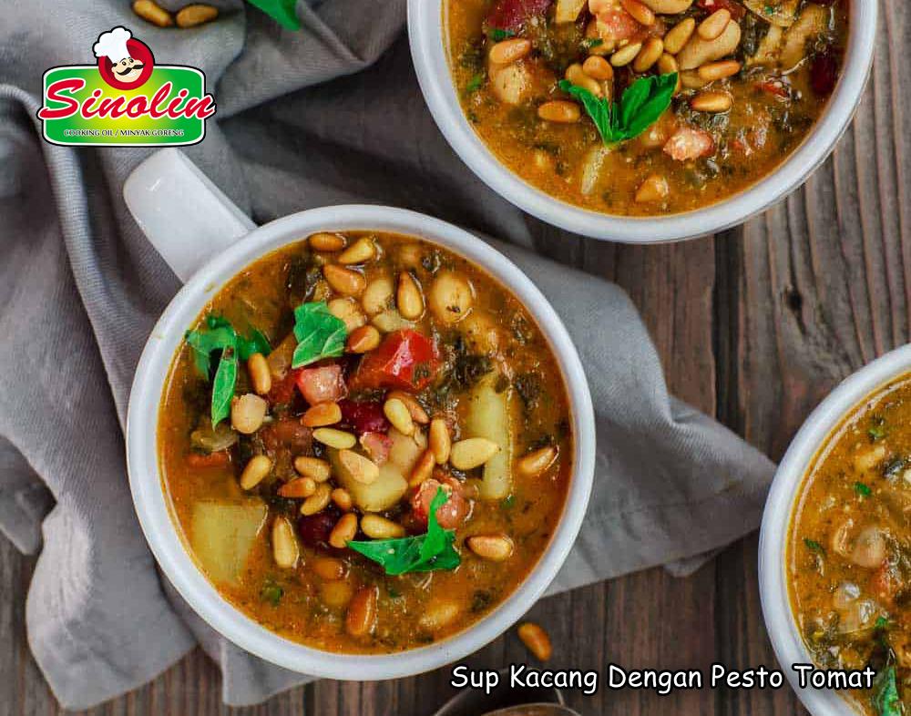 Sup Kacang Dengan Pesto Tomat Oleh Dapur Sinolin