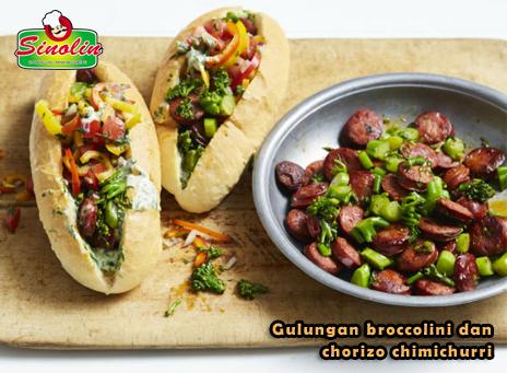 Resep  Gulungan broccolini dan chorizo chimichurri Oleh Dapur Sinolin