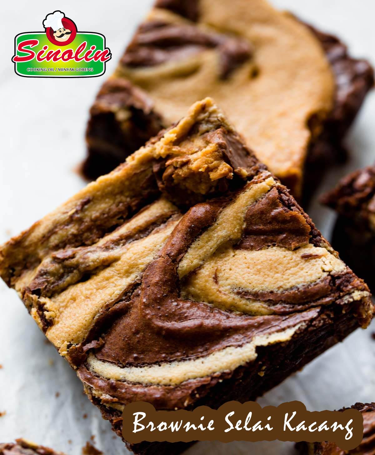 Brownie Selai Kacang Oleh Dapur Sinolin