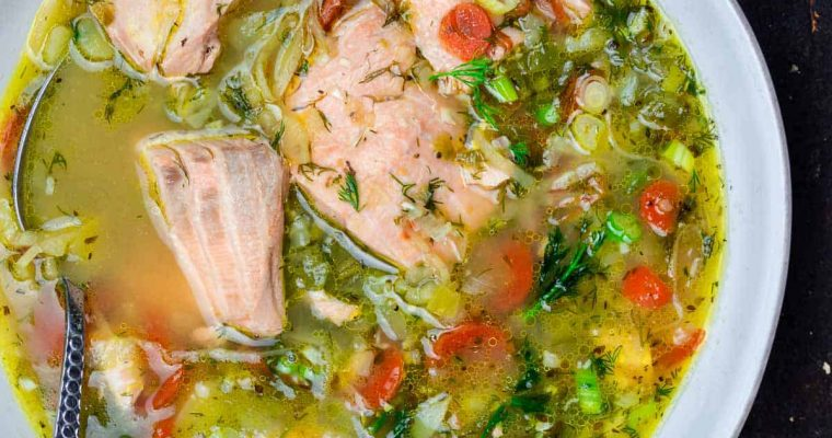 Resep: Sup Salmon Mudah Oleh Dapur Sinolin