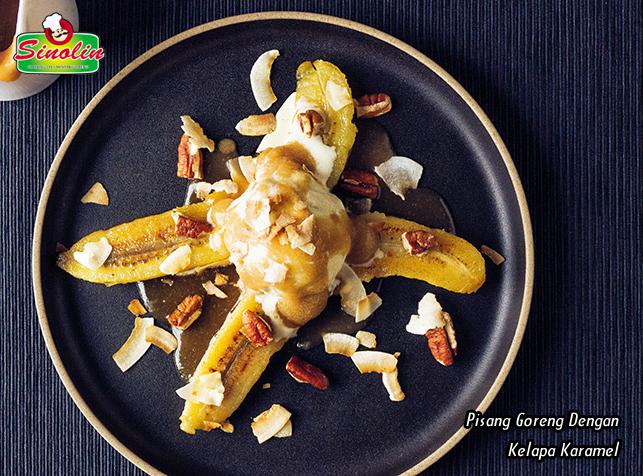 Pisang Goreng Dengan Kelapa Karamel oleh Dapur Sinolin