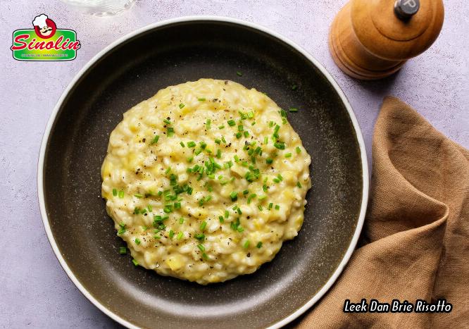Leek Dan Brie Risotto oleh Dapur Sinolin