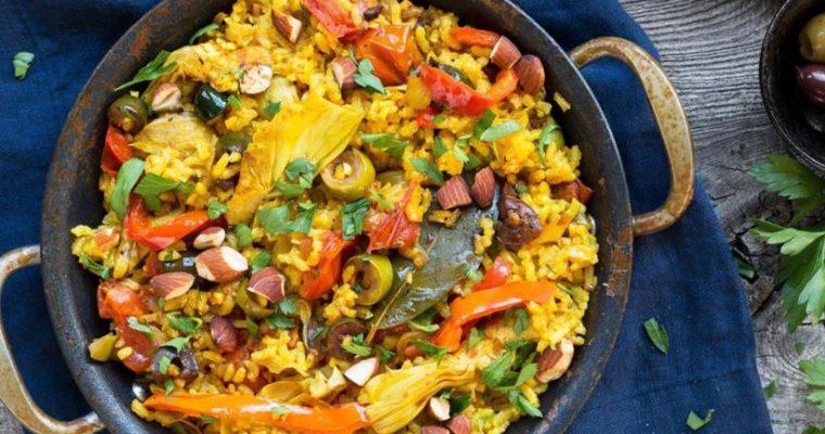 Paella Sayuran Musim Panas Oleh Dapur Sinolin