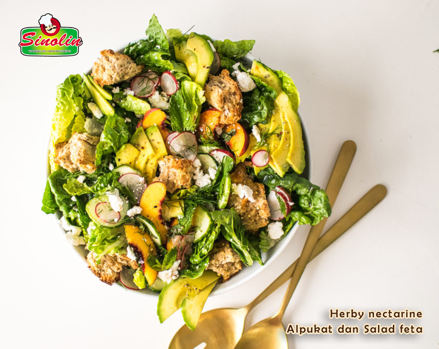 Herby nectarine Alpukat & salad feta Oleh Dapur Sinolin