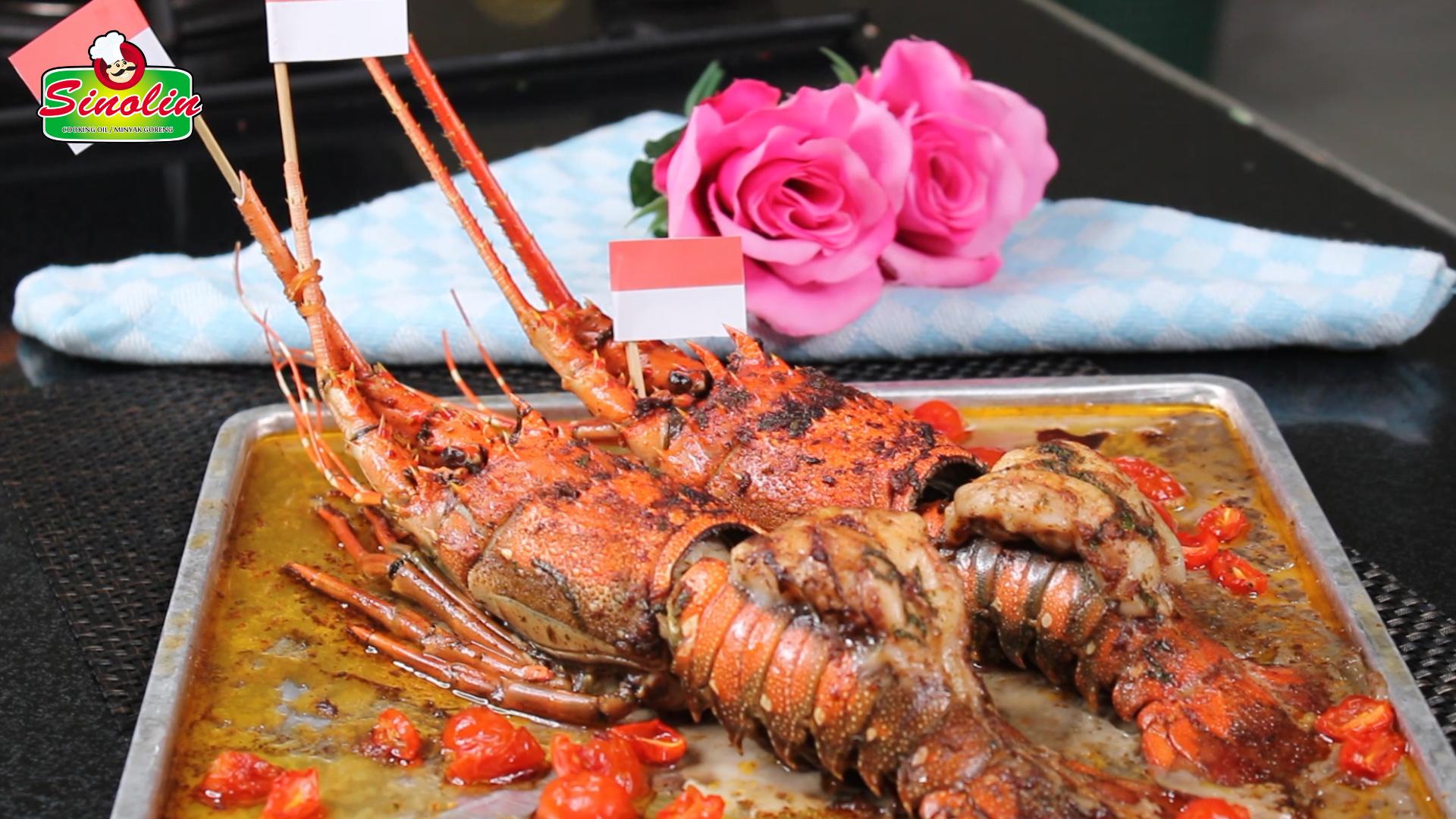 Ekor Lobster Dengan Bawang Putih Mentega Oleh Dapur Sinolin