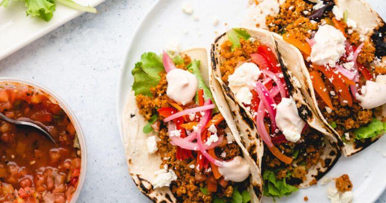 Quinoa Tacos yang di Isi Oleh Dapur Sinolin