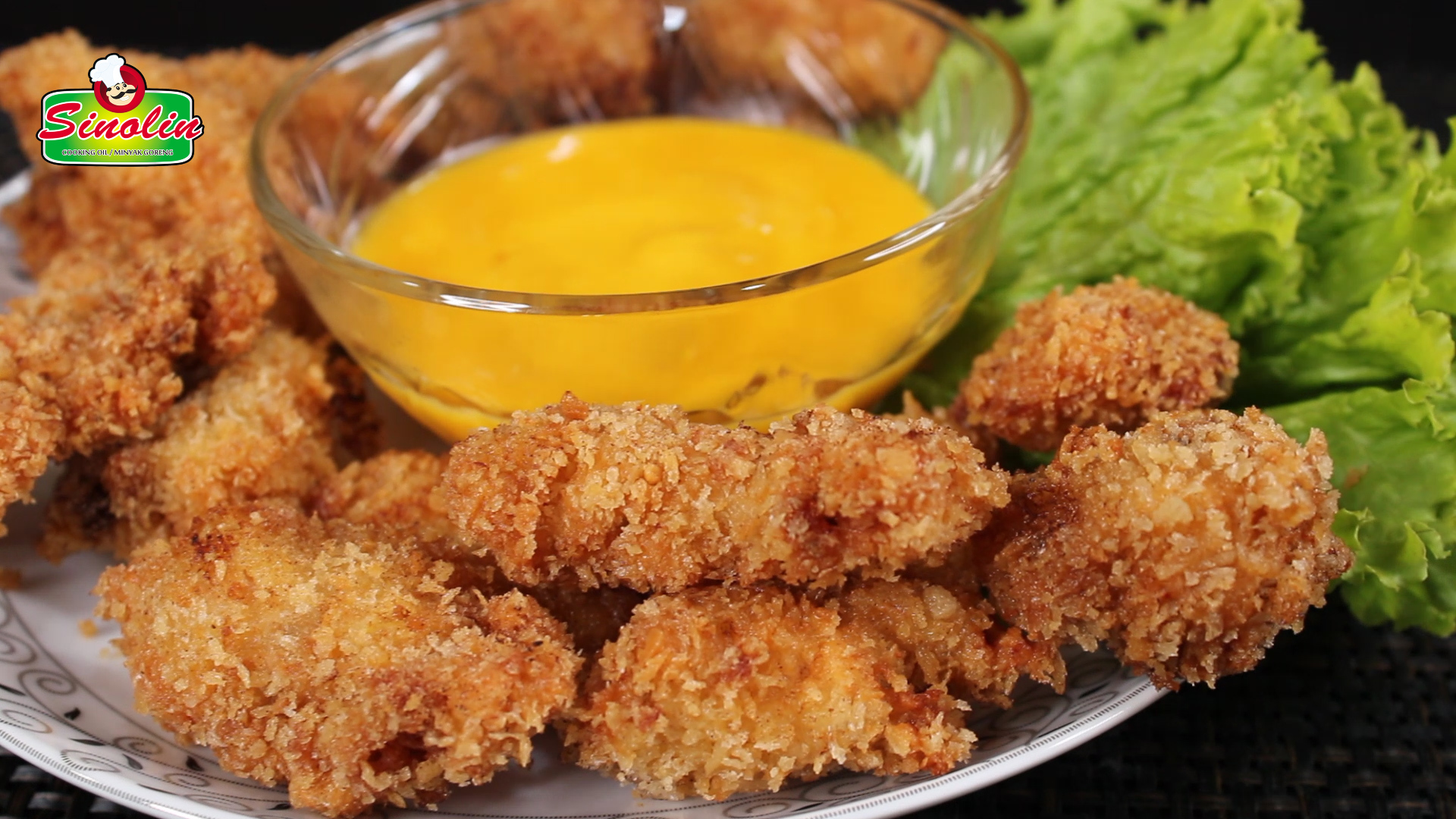 Popcorn Chicken With Mango Coconut Dipping Sauce by Dapur Sinolin
