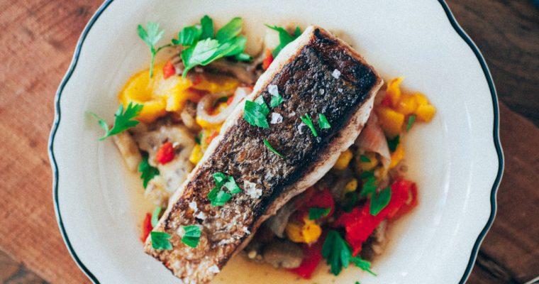 Resep Ikan Kakap Putih Bakar dengan Paprika dan Bawang Putih Oleh Dapur Sinolin