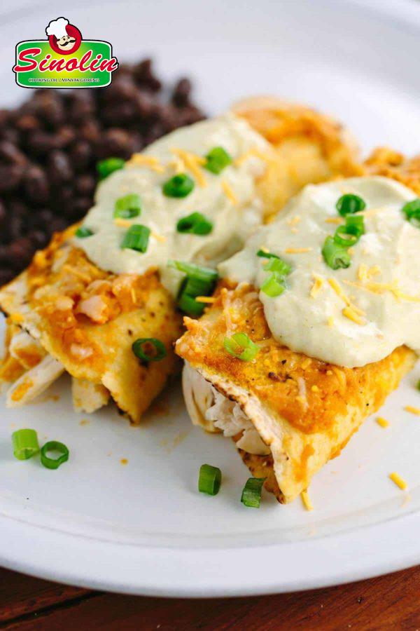 Enchilada Ayam dengan Saus Labu Oleh Dapur Sinolin