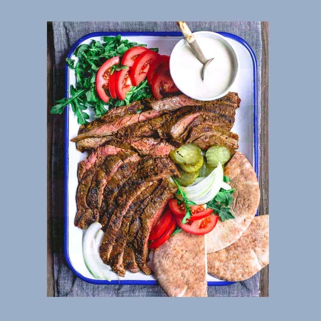 Shawarma Daging Sapi Panggang Oleh Dapur Sinolin