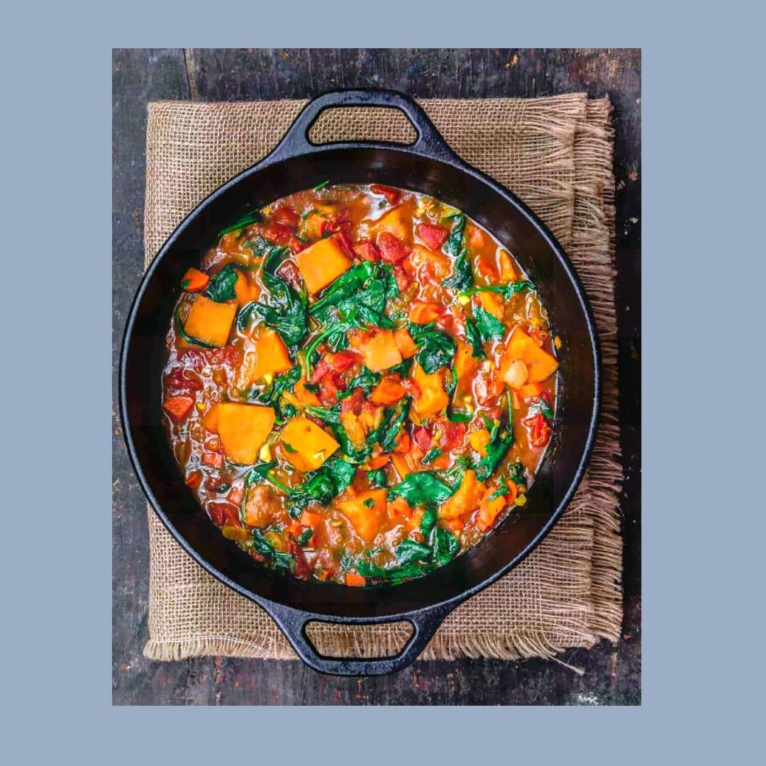 Sup Ubi Jalar Vegetarian Sederhana, Gaya Mediterania Oleh Dapur Sinolin