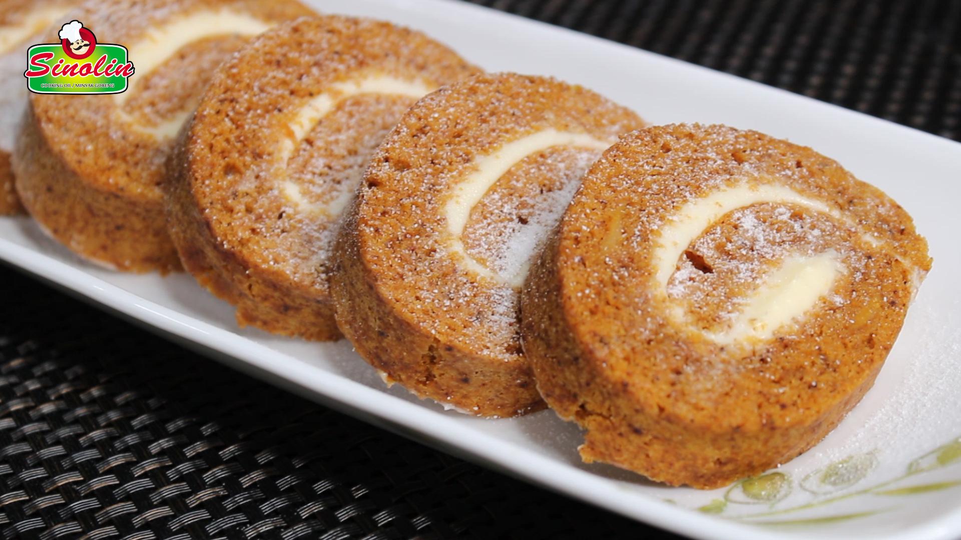 Pumpkin Roll Cake By Dapur Sinolin