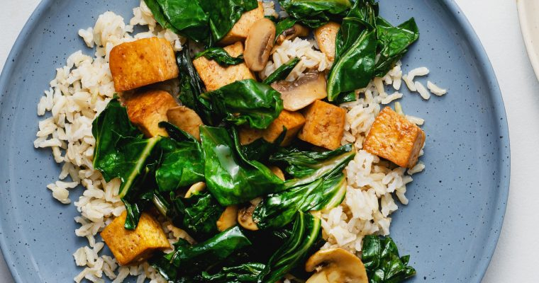 Swiss Chard and Tofu Stir-Fry Oleh Dapur Sinolin