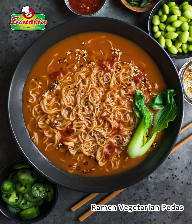Spicy Vegetarian Ramen by Dapur Sinolin