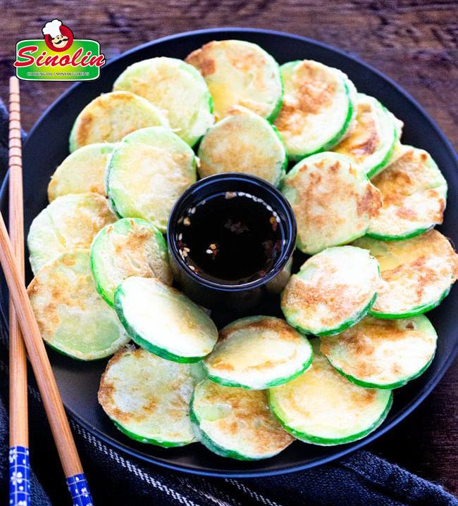Zucchini Korea Goreng Pan (Hobak Jeon) Oleh Dapur Sinolin
