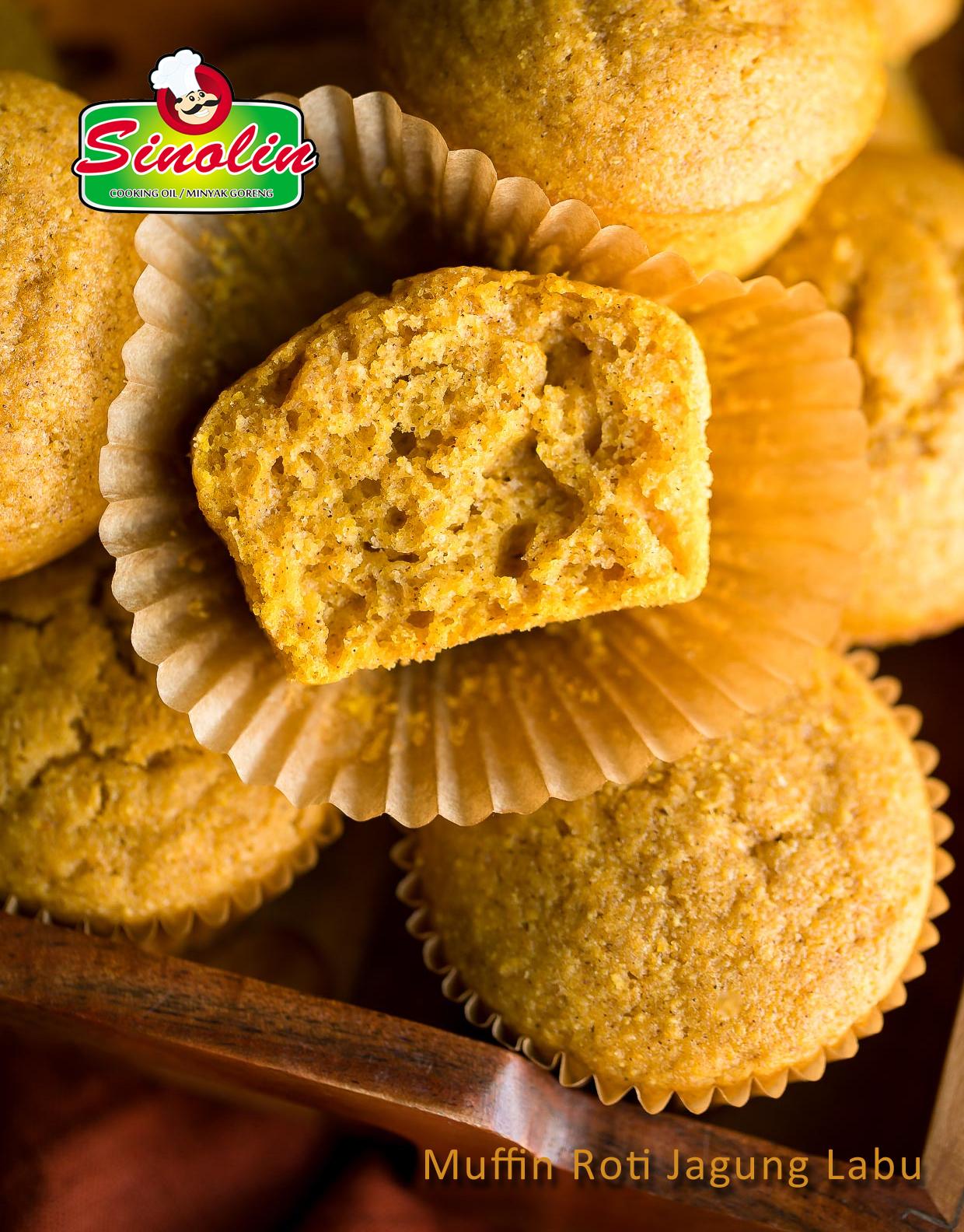 Pumpkin Cornbread Muffins By Dapur Sinolin