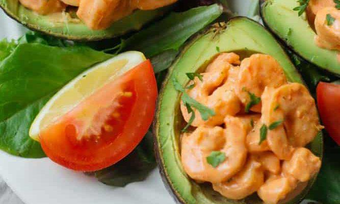 Shrimp Cocktail in Avocado Bowls | Dapur Sinolin